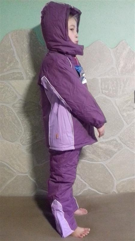 Lány Téli Overál Kétrészes Lila kantáros nadrág és kabát ... 6c11187555