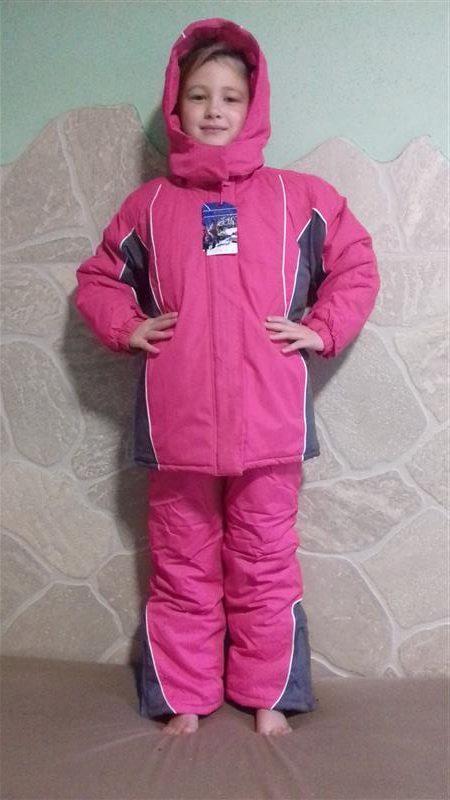 f022c521d7 Lány Kétrészes Téli Overál Rózsaszín kantáros nadrág és kabát ...