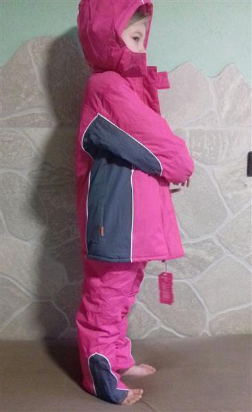 Lány Kétrészes Téli Overál Rózsaszín kantáros nadrág és kabát ... 189993fd15