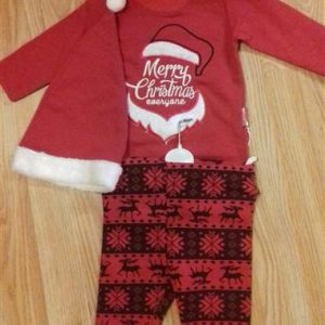 Karácsonyi baba együttes fiú lány két részes body nadrág mikulás ... 63374bcd1c