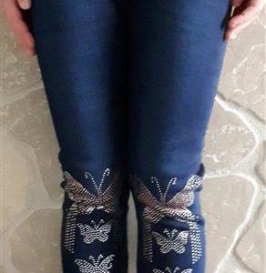 Vastag meleg bélelt minőségi leggings lányoknak pillangós köves 7faccfa176