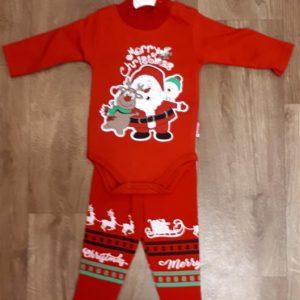 81d8f910b5 Karácsonyi baba együttes fiú lány két részes body nadrág mikulás szarvas  hóember mintával