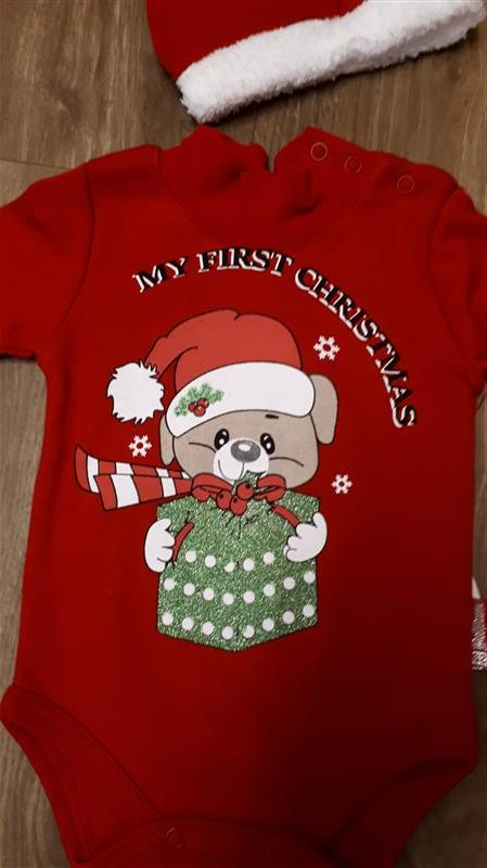 a70dd4bebf Baba együttes fiú lány body és sapka karácsonyi kutya mintával ...